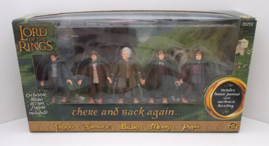There And Back Again Lord of the Rings Action Figure  Boxed Set