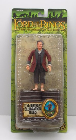 111th Celebration Bilbo Carded Lord of the Rings Action Figure Toy