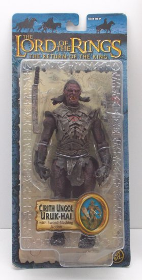 Cirith Ungol Uruk Hai Carded Lord of the Rings Action Figure Toy