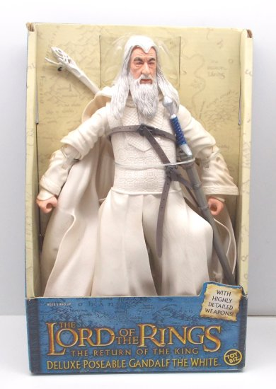 Gandalf The White Deluxe Poseable Boxed Lord of the Rings Action Figure Toy