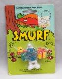 Vintage Gift-Giving Smurf Carded Figure