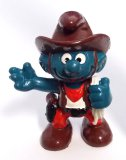 Cowboy Smurf Vintage PVC Figurine