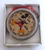 Wooden Kurt & Adler Mickey Mouse Clock Christmas Ornament
