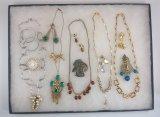 Necklace, Earring & Brooch Lot
