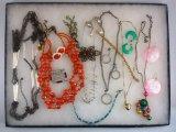 Necklace,Earring, Bracelet & Brooch Lot