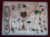 Gold Tone Necklace,Earring, Bracelet & Brooch Lot