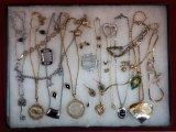 Necklace, Earring, Bracelet, & Brooch Lot