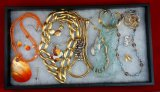 Beaded Necklace, Earring, Bracelet, & Brooch Lot