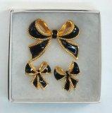 Bow Brooch & Earring Set