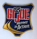 JoeCon 2005 Iron-On Embrodered Patch GI Joe Convention Souvenir