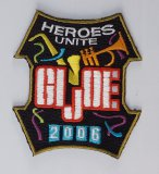 JoeCon 2006 Iron-On Embrodered Patch GI Joe Convention Souvenir