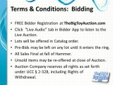 Terms and Conditions: Bidding