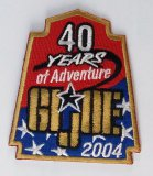 JoeCon 2004 Iron-On Embrodered Patch GI Joe Convention Souvenir