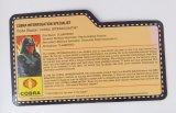 2009 Cobra Interrogator G.I. Joe Convention Exclusive FileCard