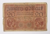 1918 German 20 Mark Note