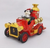 Japanese Tin Litho Mickey Mouse Fire Engine FD 5 Lever Toy