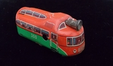 West German Tin Litho Windup Trolley