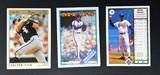 Vintage Lot of 3 Baseball Cards; Carlton Fisk, Dwight Gooden, Brian Holten Error