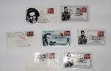 Lot of 7 Elvis Presley First Day Cover Stamps