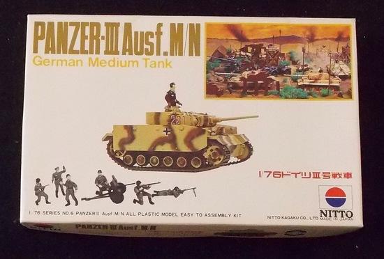 Nitto 1/76 Scale Panzer III Ausf. M/N German Medium Tank Military Vehicle Model Kit
