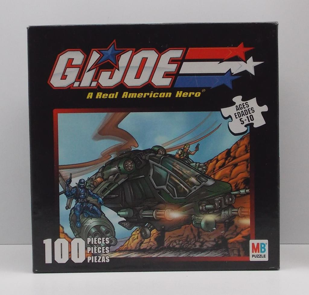 G.I. Joe 2002 Joe Vs. Cobra 100 Piece Night Attack Chopper Puzzle Set