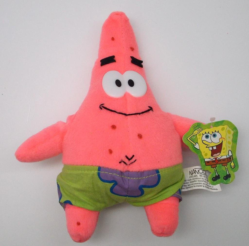 Patrick Starfish Spongebob Squarepants Plush Figure NWT