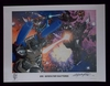 """Signed  """"One Generation Shattered"""" Transformers 2008 Botcon Lithograph"""