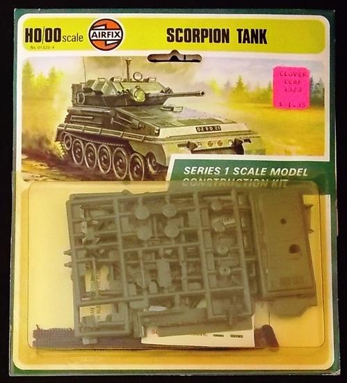 Airfix - HO/OO Scale Scorpion Tank Vehicle World War II Carded Model Kit