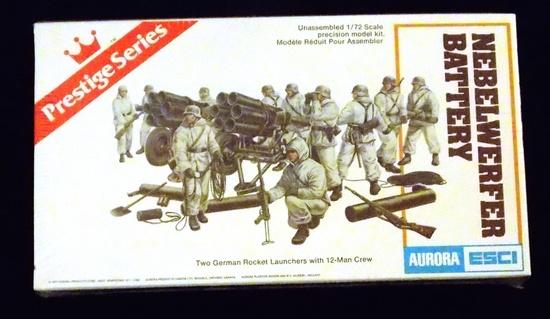 Aurora ESCI - 1/72 Scale German Nebelwerfer Battery Accessory Model Kit