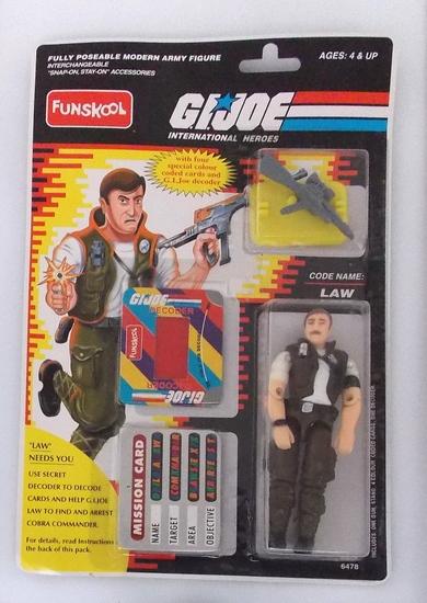 G.I. Joe Law Funskool International Heroes Indian Import Carded Figure