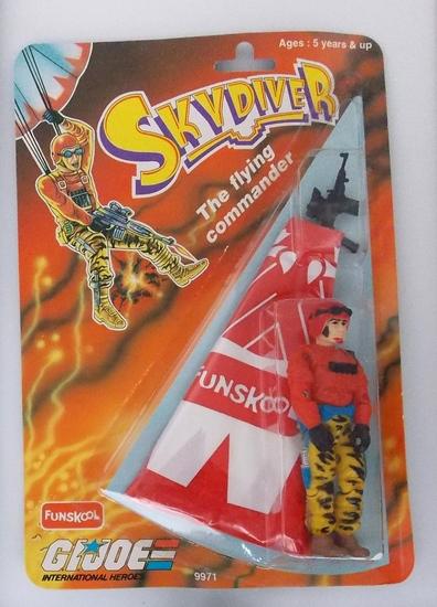G.I. Joe SkyDiver Funskool International Heroes Indian Import Carded Figure