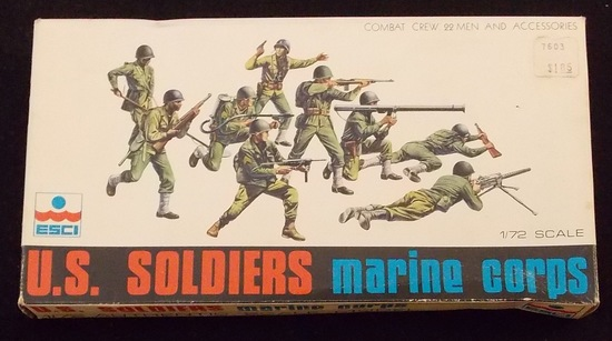 ESCI 1/72 Scale U.S. Soldiers Marine Corps Model Figures