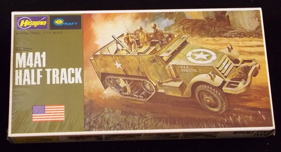 Hasegawa - 1/72 Scale M4A1 Half Track Military Vehicle MiniCraft Model Kit