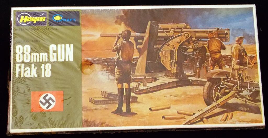 Hasegawa - 1/72 Scale German 88mm Flak 18 Gun Mini Craft Model Kit