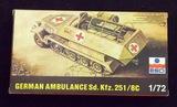 ESCI 1/72 Scale German Half-Track Ambulance Sd. Kfz. 251/8c
