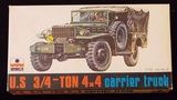 ESCI 1/72 Scale U.S. 3/4 Ton 4X4 Carrier Truck Military Vehicle Model Kit