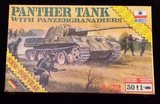 ESCI ERTL - 1/72 Scale German Panther Tank With PanzerGranadiers Military Vehicle Model Kit