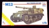 ESCI ERTL - 1/72 Scale M12 Self-Propelled Gun Military Vehicle
