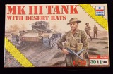ESCI ERTL - 1/72 Scale British MK III Tank with Desert Rats Military Vehicle Model Kit