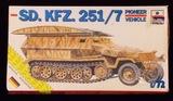 ESCI ERTL - 1/72 Scale SD. KFZ 251/7 Pioneer Half-Track Military Vehicle
