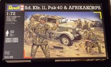 Revell - Sd. Kfz. 11, Pak 40 & AfrikaKorps WWII 1/72 Scale Infantry Figures