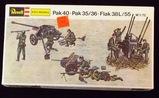 Revell/ESCI - Pak 40 Pak 35/36 Flak 38L/55 WWII 1/72 Scale Model Guns