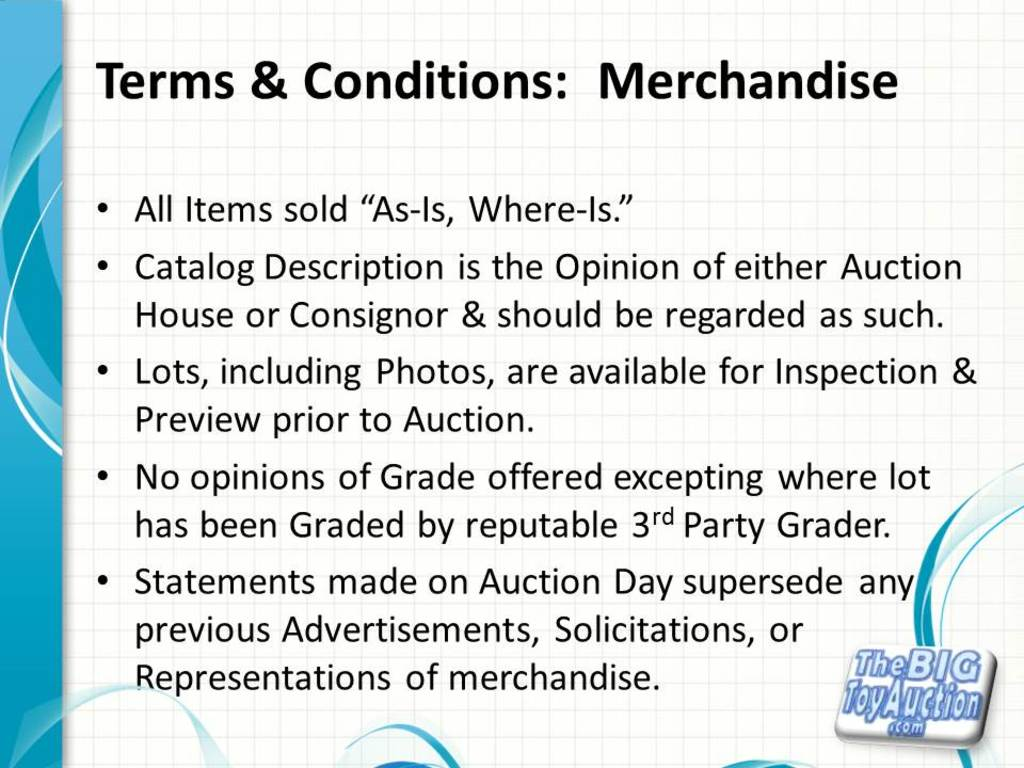 Terms and Conditions: Merchandise