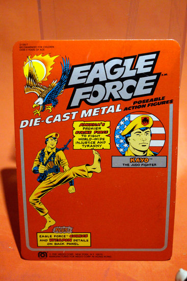 Original Vintage Eagle Force Proof Card from the Files of Robyn Adams