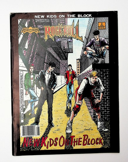 New Kids on the Block 1990 Oversize Comic Book