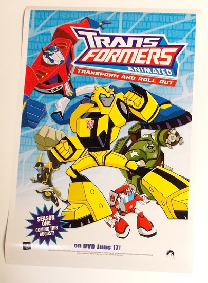 "Transformers Animated ""Transform and Roll Out"" 2008 Botcon Convention Promo Poster"