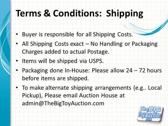 Terms and Conditions: Shipping