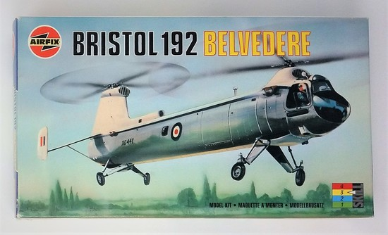 1/72 Scale Bristol 192 Belvedere Airfix Plastic Model Kit