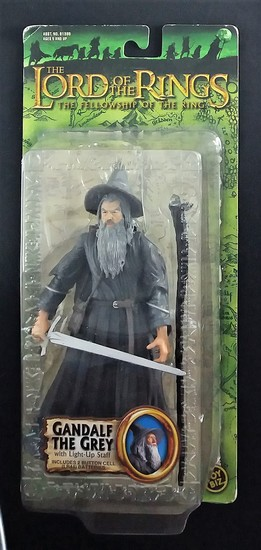 Gandalf The Grey Carded Lord of the Rings Action Figure Toy