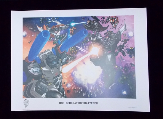 """One Generation Shattered"" Transformers 2008 Botcon Lithograph"